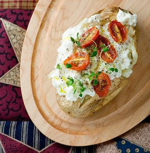 Tomato, Ricotta, and Thyme Baked Potato Source: framedcooks.com