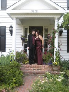LivingFirst contributor, Adrianna, before her prom.  June 13, 2008.