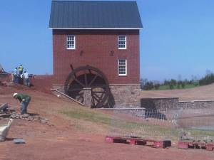 Entry monument at Lenah Mill