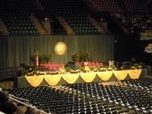 The stage at George Mason University's Commencement Ceremony May 18, 2013.