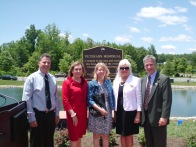 From Left to Right: Peter Rightmyer, General Manager, Four Seasons of Historic Virginia Community Association, Maureen Caddigan, Board of County Supervisor, Potomac District, Kimberley O'Halloran-Perez, Esq., Rees Broome PC and President, Washington Metropolitan Chapter of the Community Associations Institute, Sue Hebert, President, Four Seasons of Historic Virginia Community Association Board of Directors, and George Ellis, Principle Owner, Service First Management & Consulting, Inc.
