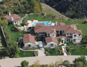 Justin Bieber's home.  Photo found @ justinbieberbelievealbum.com