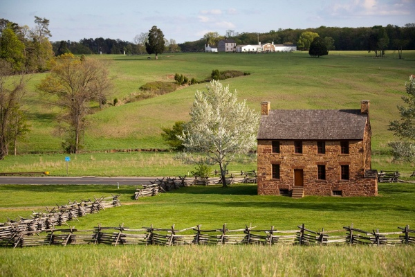 "The Stone House at Manassas National Battlefield Park. Used as hospital in the ""First and Second Battle of Manassas."" It is remembered for it's ""blood-soaked grounds."""