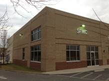 sfmc building with sign